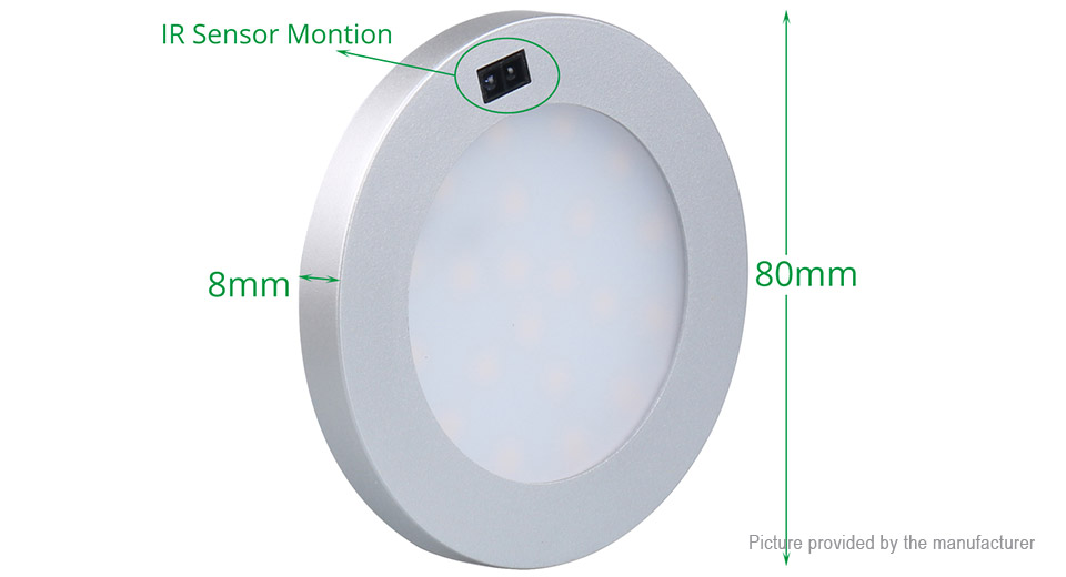 $8.35 3W PIR Motion Sensor LED Night Light Cabinet Lamp - DC 12V ...