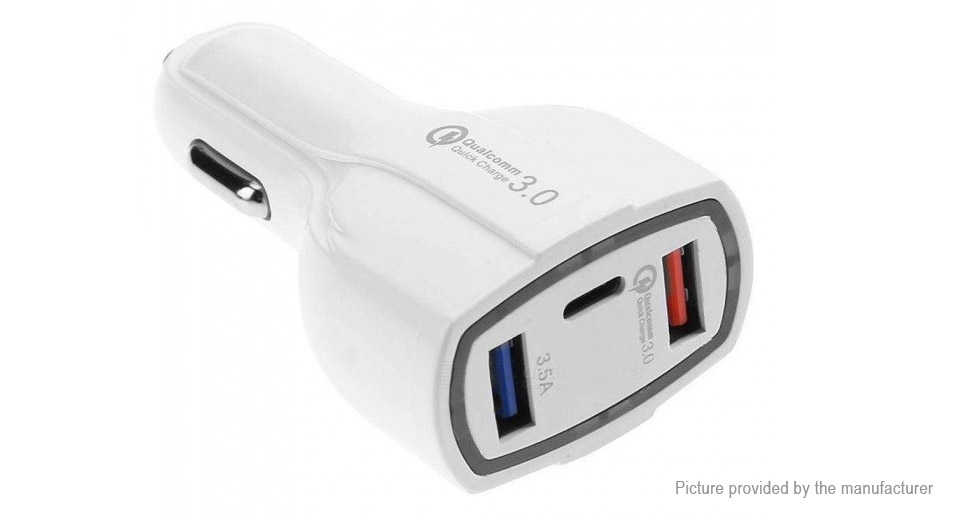 Dual USB Car Cigarette Lighter Charger Power Adapter