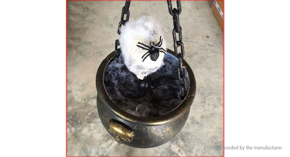 Skull Spider Bowl Halloween Decoration Horror Prop