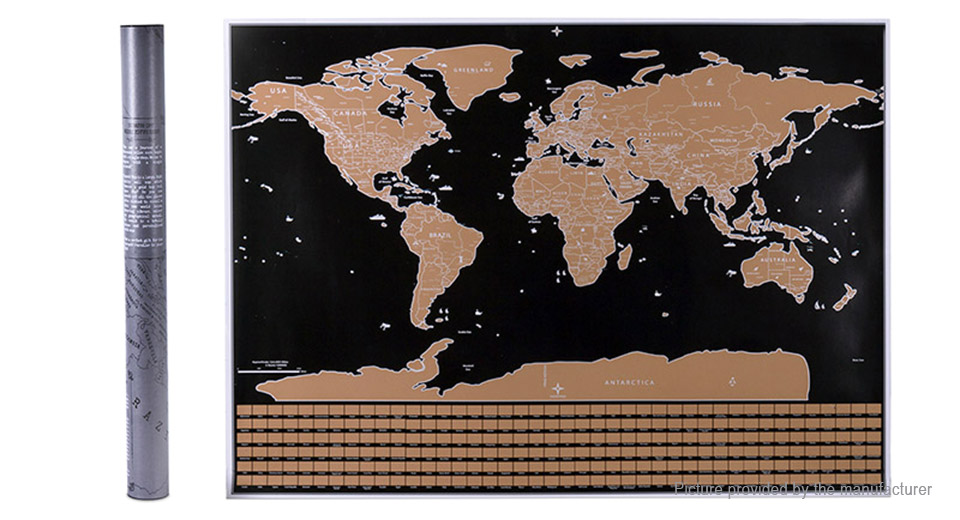 Scratch Off World Map Poster.10 00 Scratch Off World Map Poster Personalized Journal Log 82 5