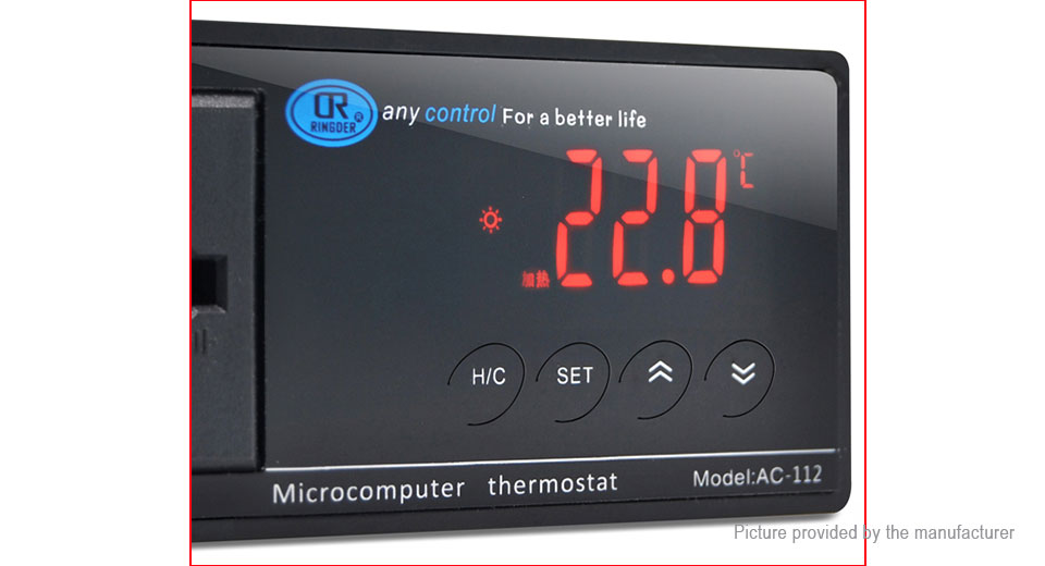 RINGSER Digital LCD Temperature Controller Heating Cooling Thermostat (EU)
