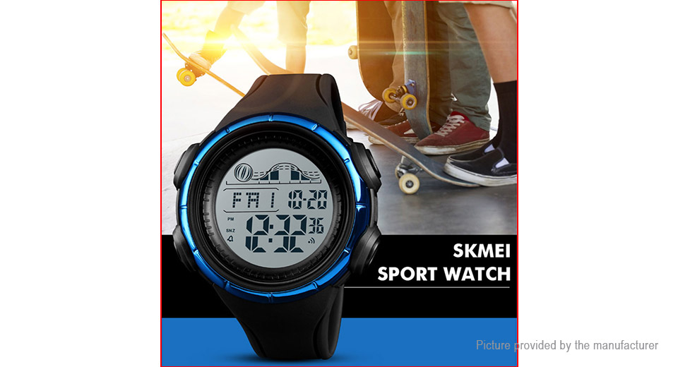 Authentic Skmei 1379 Men's PU Band Sports Digital Wrist Watch