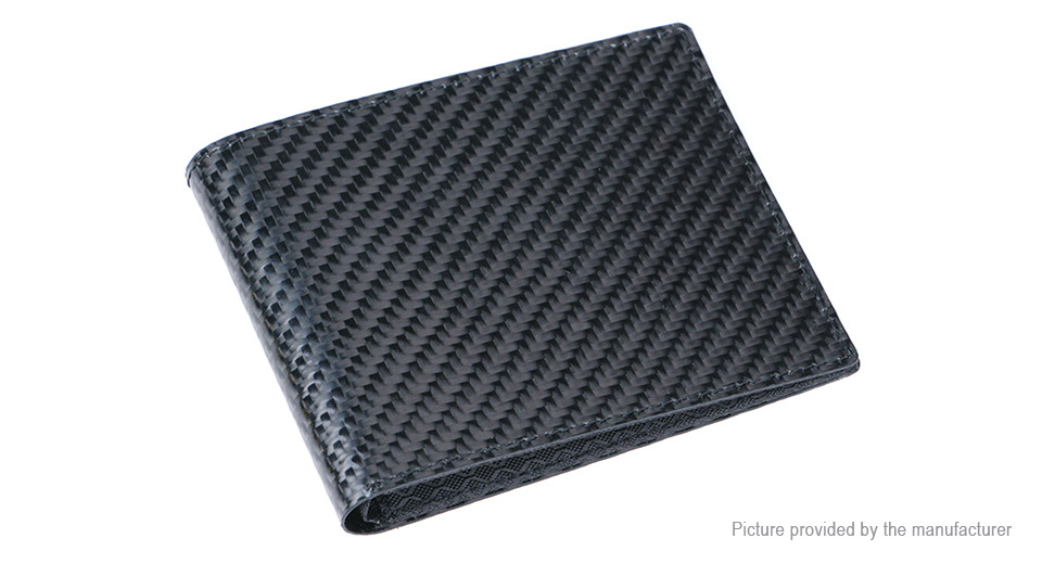 Men's RFID Blocking Carbon Fiber Short Wallet Card Holder