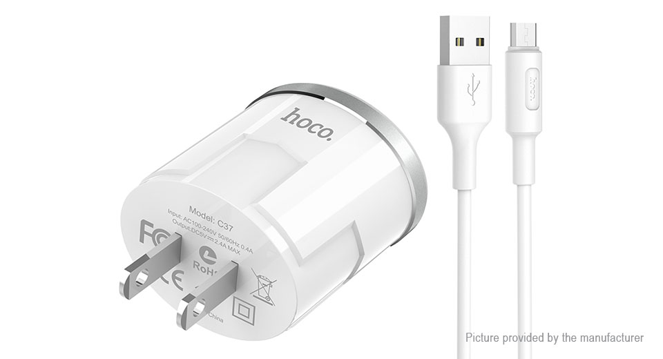 Product Image: authentic-hoco-c37-single-usb-wall-charger-power