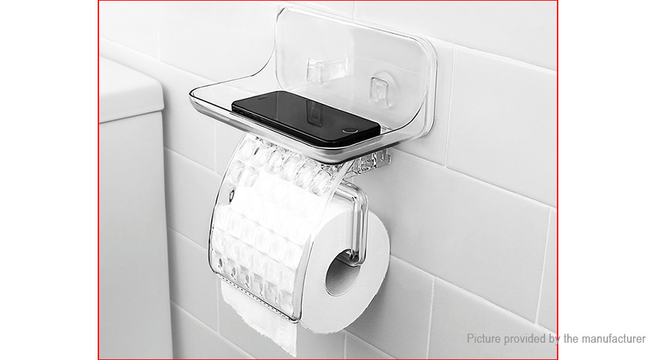 KCASA KC-FT68 Bathroom Toilet Roll Tissue Container Cellphone Holder Stand
