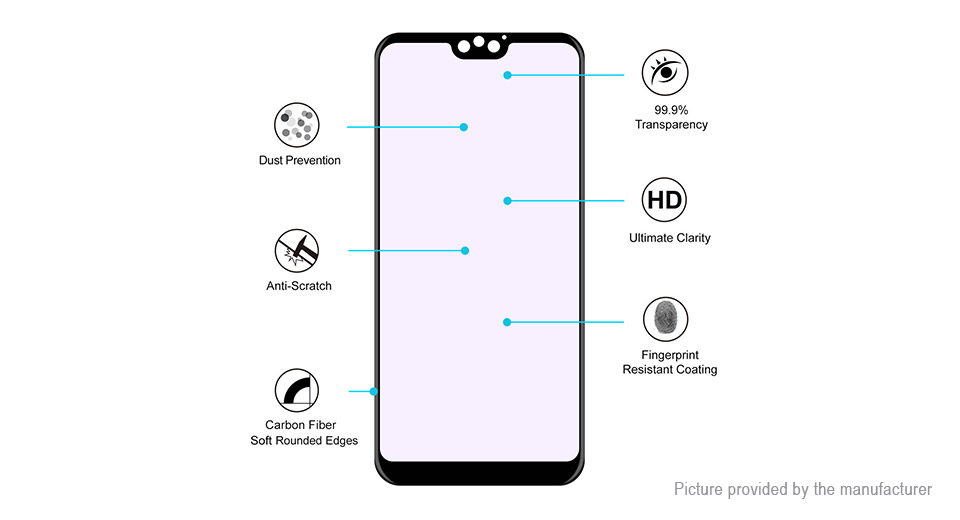Hat.Prince 3D Tempered Glass Screen Protector for Huawei Honor 9i