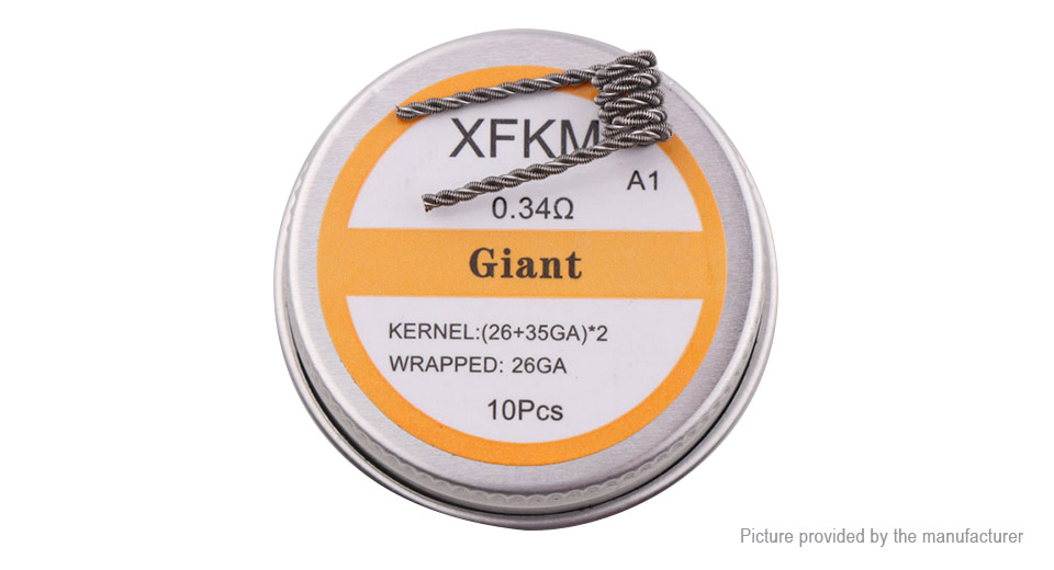 292 authentic xfkm kanthal a1 giant pre coiled wire 263526 authentic xfkm kanthal a1 giant pre coiled wire greentooth Images