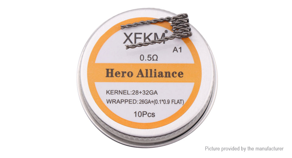 292 authentic xfkm kanthal a1 hero alliance pre coiled wire 28 authentic xfkm kanthal a1 hero alliance pre coiled wire greentooth Gallery