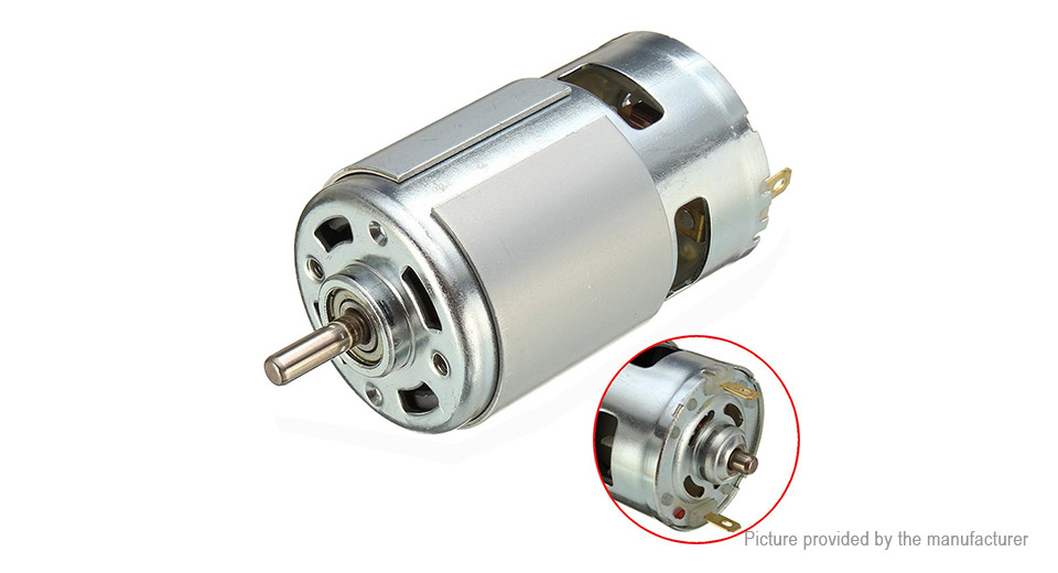 775 Motor 12V-36V Ball Bearing Gear Motor for DIY Driver Parts
