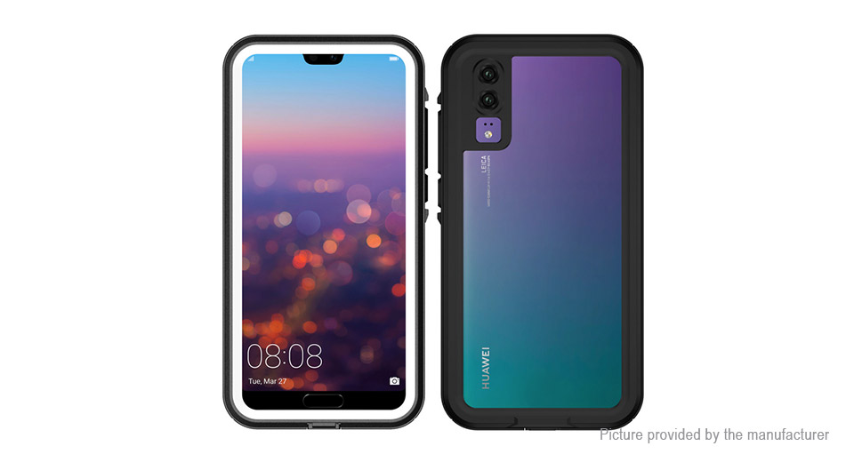 big sale 2ed49 cf8da ShellBox Full Body Waterproof Protective Case Cover for Huawei P20 Pro