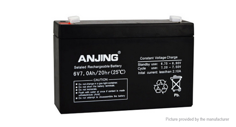 Product Image: anjing-6v-7ah-lead-acid-rechargeable-battery-for