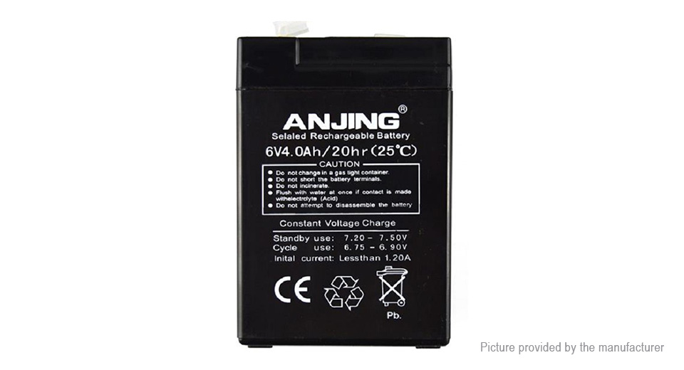 Product Image: anjing-6v-4ah-lead-acid-rechargeable-battery-for