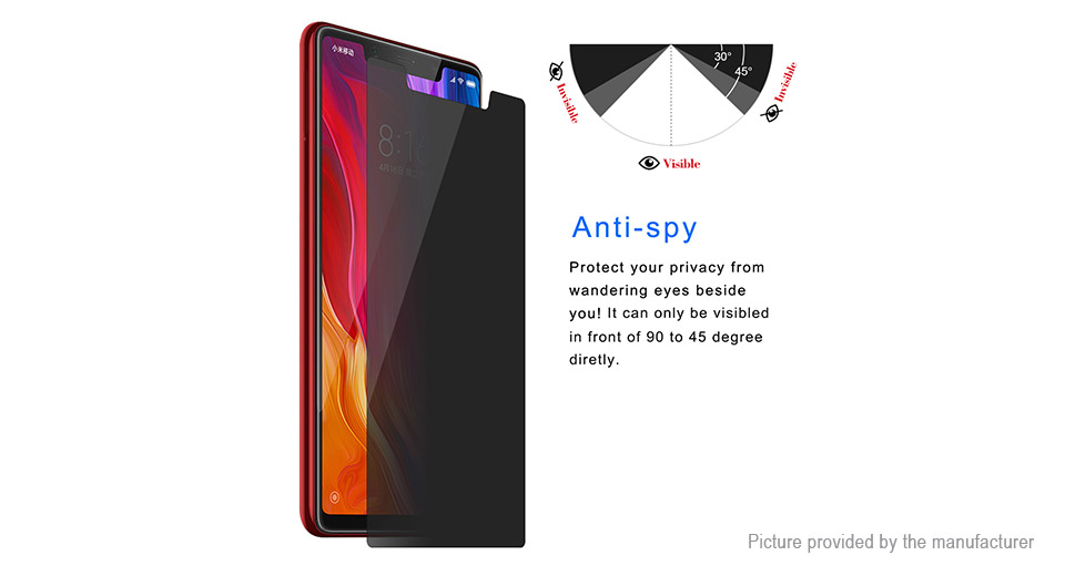 Hat.Prince 2.5D Tempered Glass Privacy Screen Protector for Xiaomi Mi 8 SE