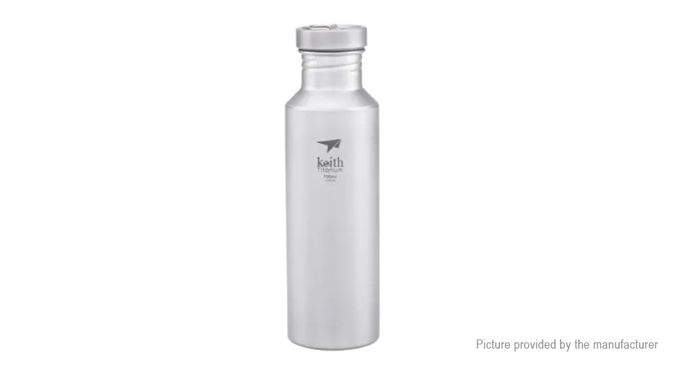 Keith Ti3032 Titanium Outdoor Sports Water Bottle (700ml)