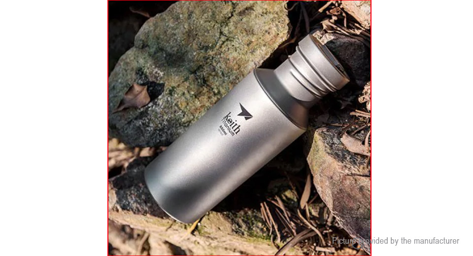 Keith Ti3031 Titanium Outdoor Sports Water Bottle (550ml)