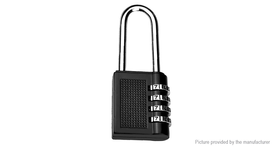 4-Digit Combination Padlock Travel Luggage Suitcase Password Lock