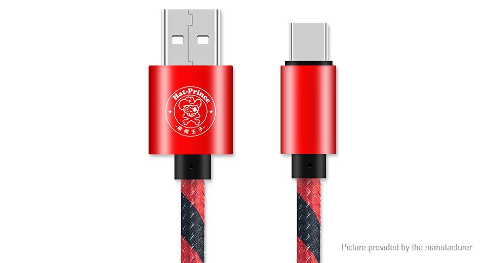 Hat.Prince USB-C to USB 2.0 Weaving Data & Charging Cable (27.5cm)