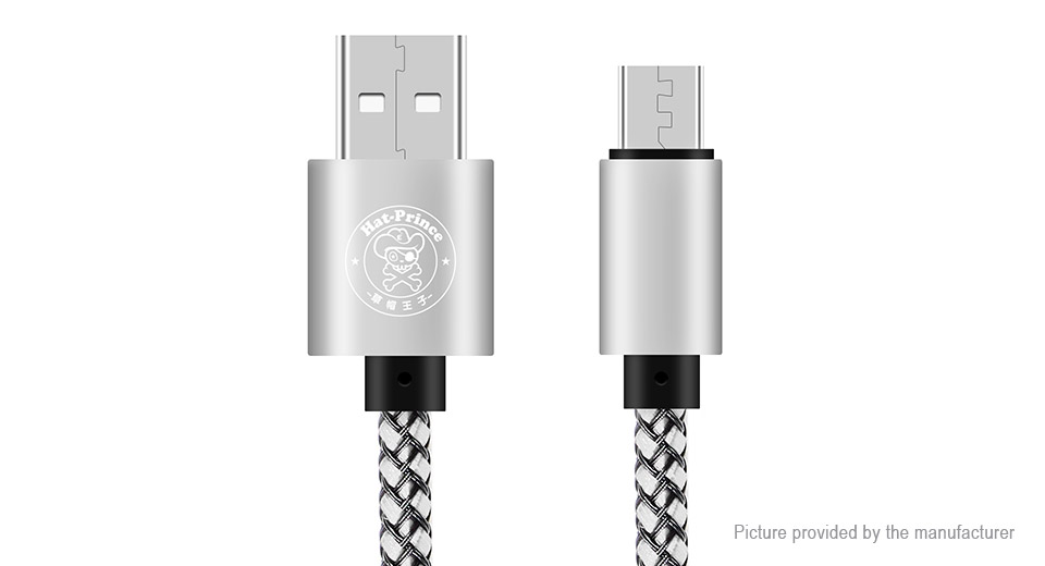 Hat.Prince Micro-USB to USB 2.0 Weaving Data & Charging Cable (27.5cm)