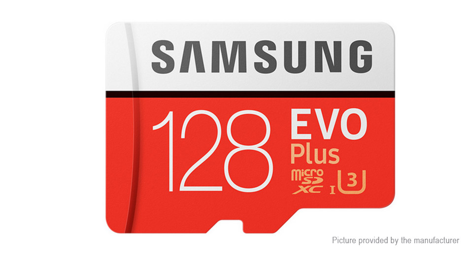 Authentic Samsung EVO Plus Class 10 microSD Memory Card (128GB)