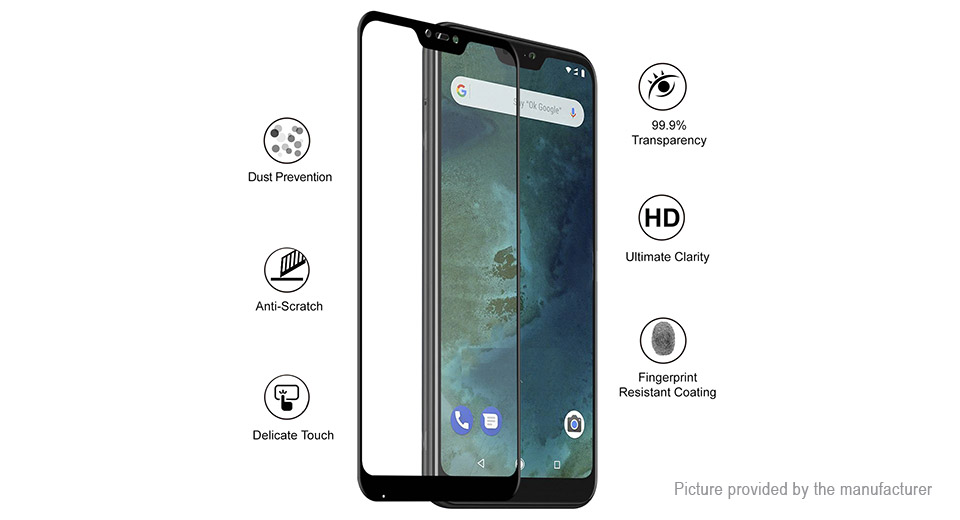 Hat.Prince 6D Tempered Glass Screen Protector for Xiaomi Mi A2 Lite/Redmi 6 Pro