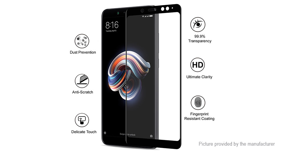 Hat.Prince 6D Tempered Glass Screen Protector for Xiaomi Redmi Note 5 Pro