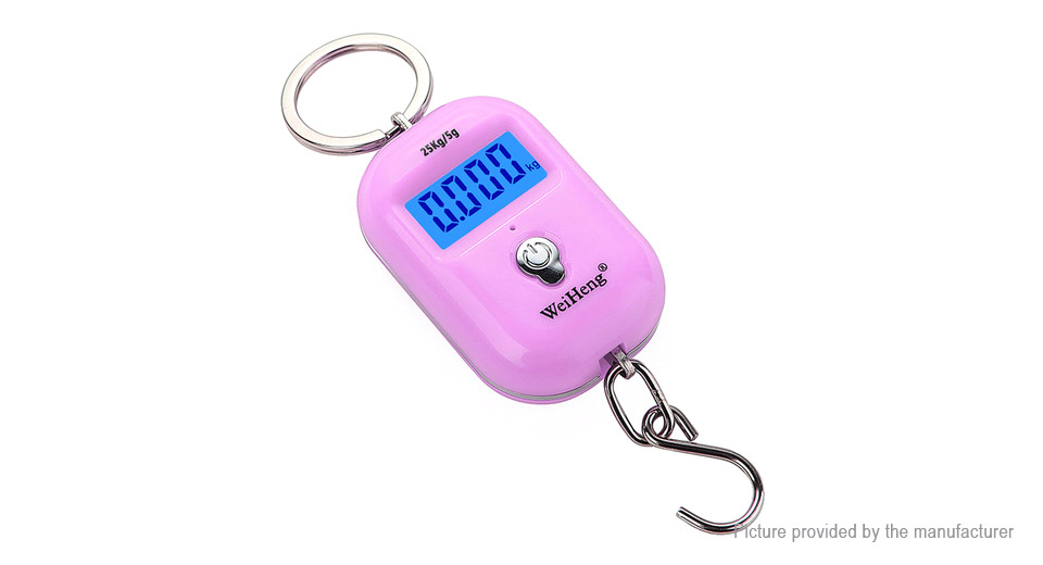 WeiHeng WH-A21 Portable Dual Accuracy Digital Luggage Scale (25kg/5g) ...