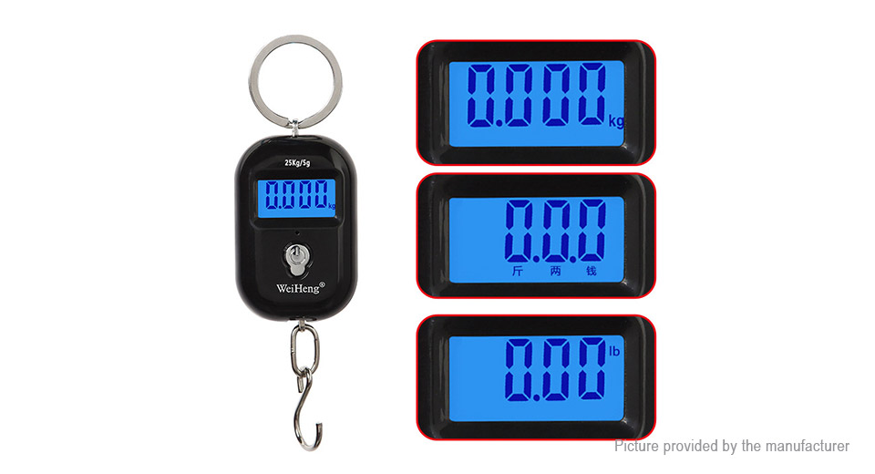 ... WeiHeng WH-A21 Portable Dual Accuracy Digital Luggage Scale (25kg/5g) ...