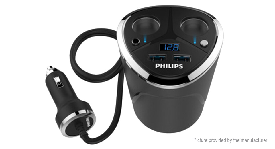 Product Image: authentic-philips-dlp2029-cup-shaped-dual-usb-car