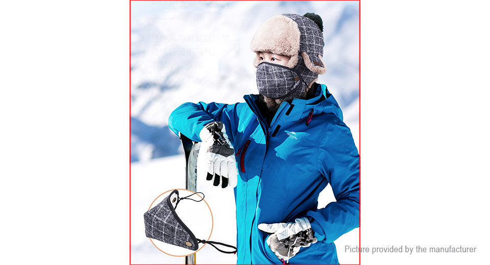 Naturehike Outdoor Sports Winter Warm Plaid Leifeng Hat w/ Mask (Size L)