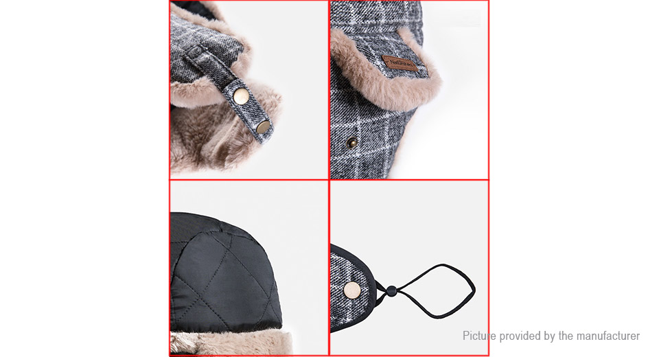 Naturehike Outdoor Sports Winter Warm Plaid Leifeng Hat w/ Mask (Size M)