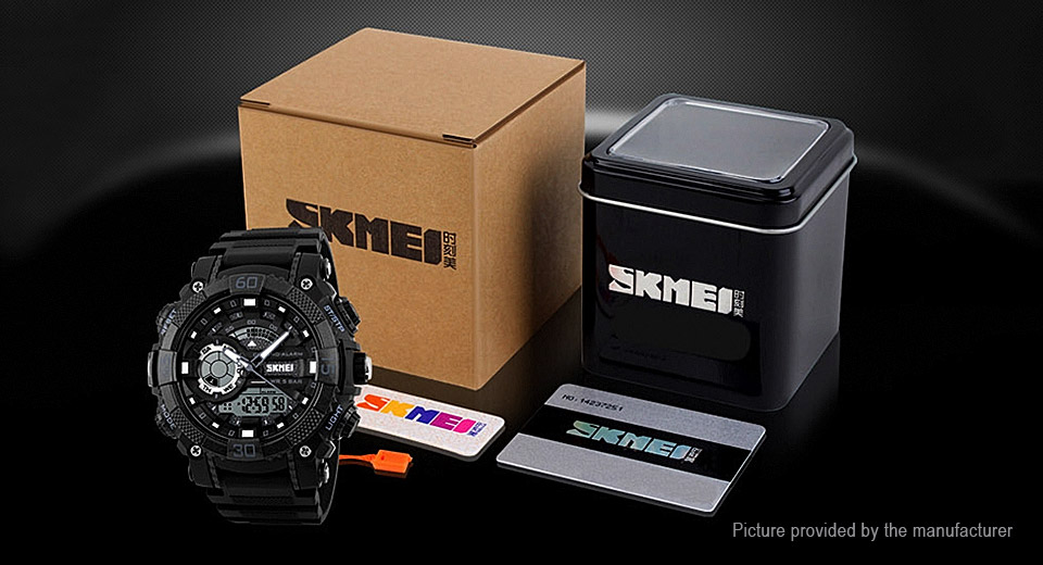 Authentic Skmei 1228 Men's PU Band Digital Analog Quartz Wrist Watch