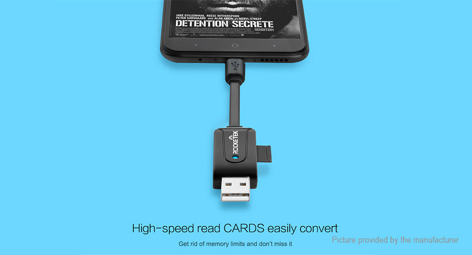 Rocketek UTG03 2-in-1 USB-C to USB 2.0 OTG Memory Card Reader