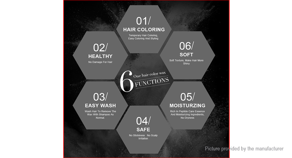 PURC Disposable Temporary Hair Styling Dye Instant Hair Coloring Wax (100ml)