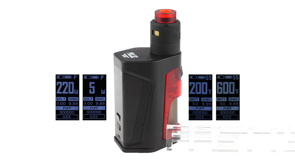 Authentic Vandy Vape Pulse Dual 220W Squonk TC VW APV Box Mod Kit
