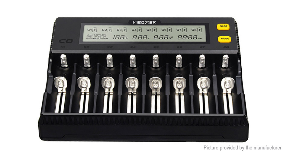 Product Image: miboxer-c8-8-slot-intelligent-battery-charger