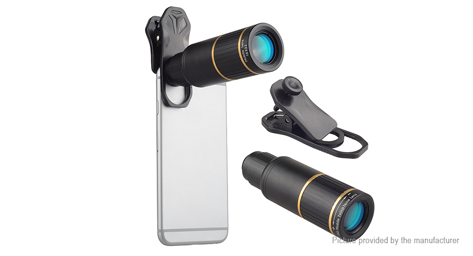 APEXEL APL-JS16XJJ04 16X Telephoto Lens Clip-on Camera Len Kit