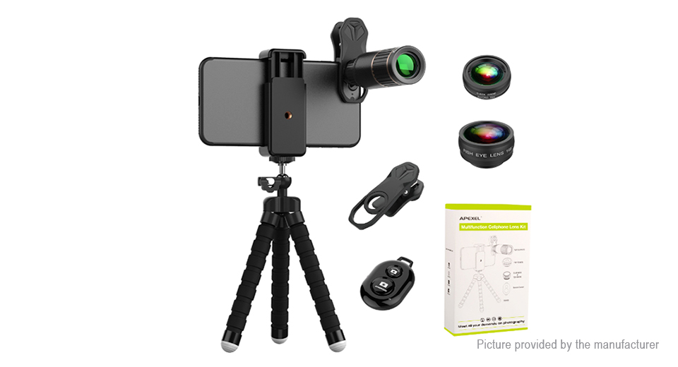 APEXEL APL-JS16XBZJ5 4-in-1 Clip-on Camera Lens Kit
