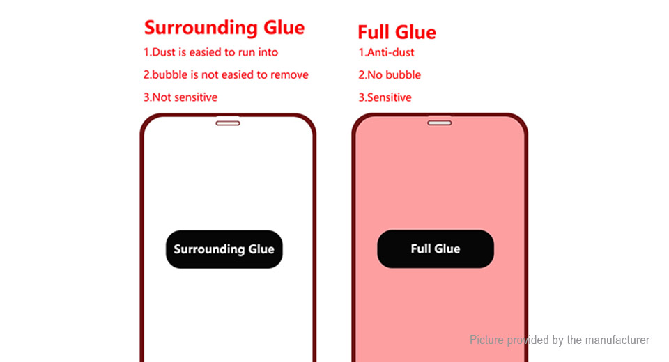 Hat.Prince Full Glue 2.5D Tempered Glass Screen Protector for iPhone XR