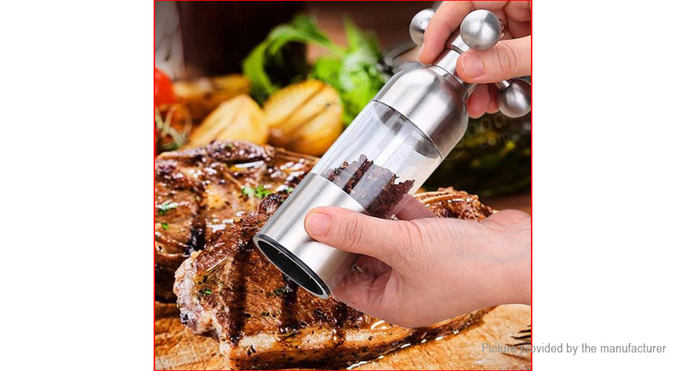 Stainless Steel Handheld Faucet Pepper Salt Mill Grinder (Size L)