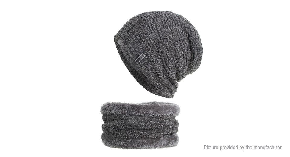 Product Image: unisex-plus-velvet-winter-warm-knitted-hat-beanie