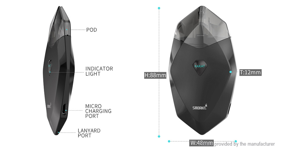 Authentic Smoant Karat 370mAh Pod System Starter Kit