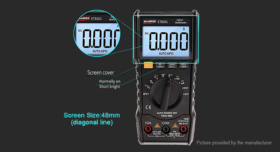 WinAPEX ET8101 Handheld True RMS AC/DC Digital Multimeter