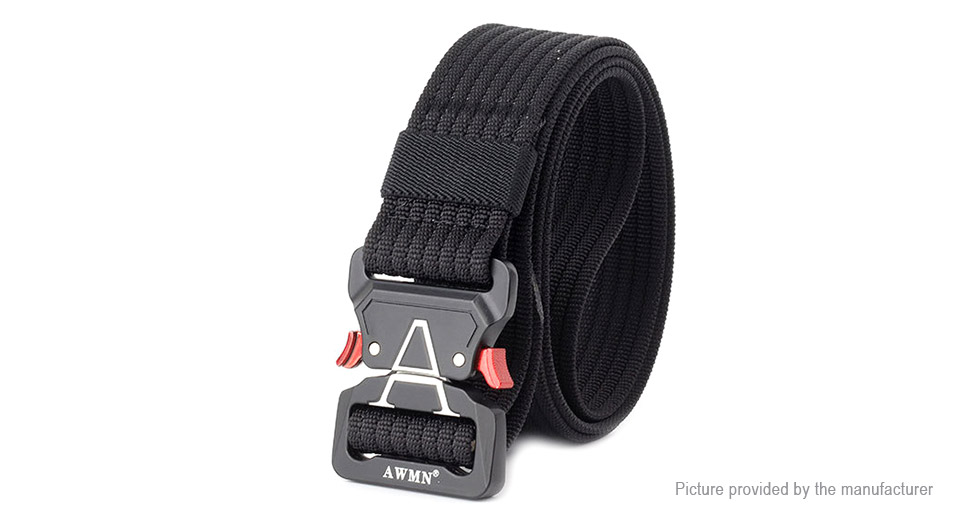 AWMN Outdoor Tactical Military Nylon Waist Belt Strap Waistband