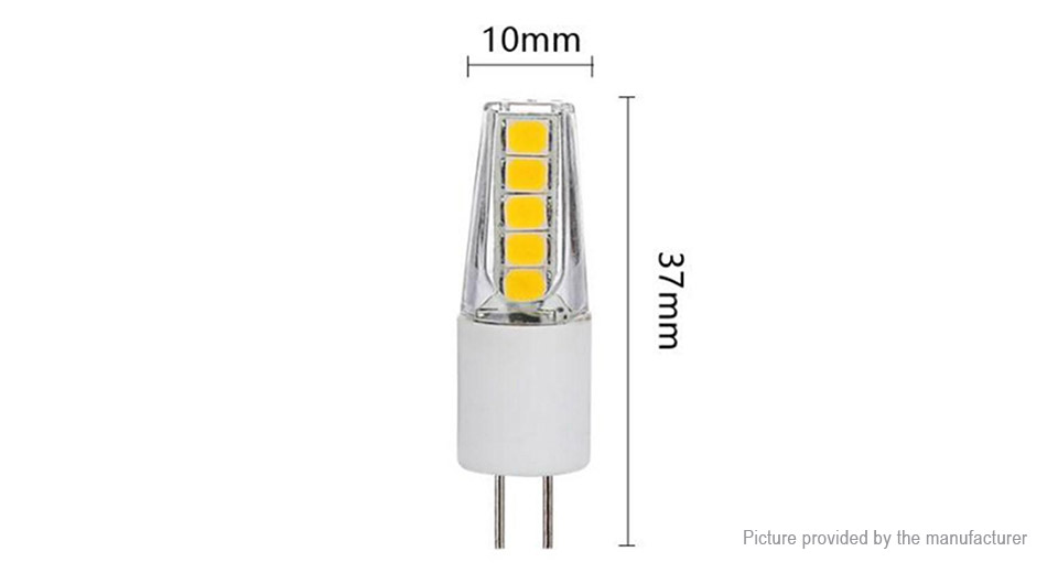 G4 2W 10*2835 SMD 200LM 6000K Pure White LED Corn Light (10-Pack)