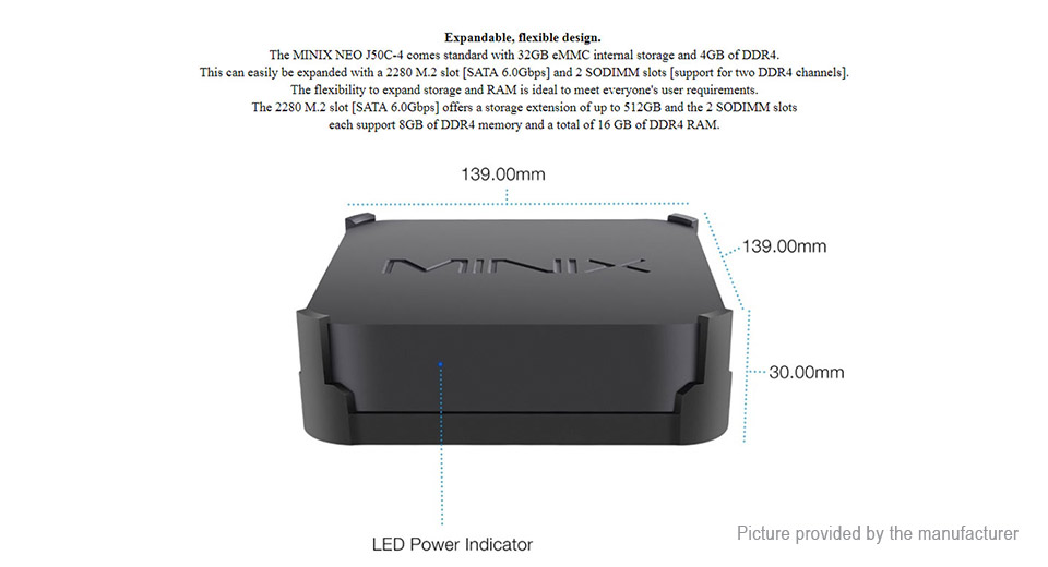 MINIX NEO J50C-4 Quad-Core Mini PC (32GB/EU)