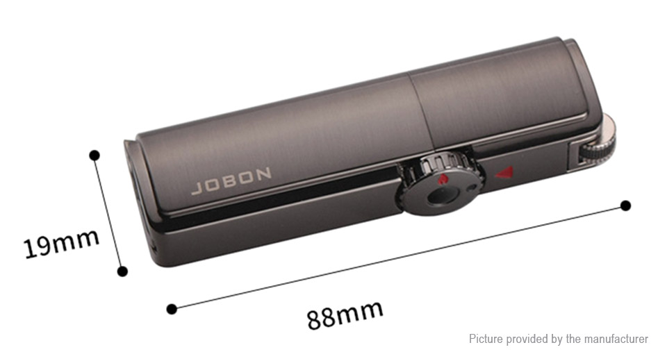 JOBON ZB307 Windproof Refillable Butane Gas Lighter