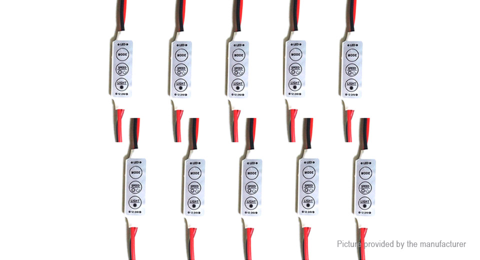 Mini Light Effect Switch PWM LED Dimmer Controller (10-Pack)