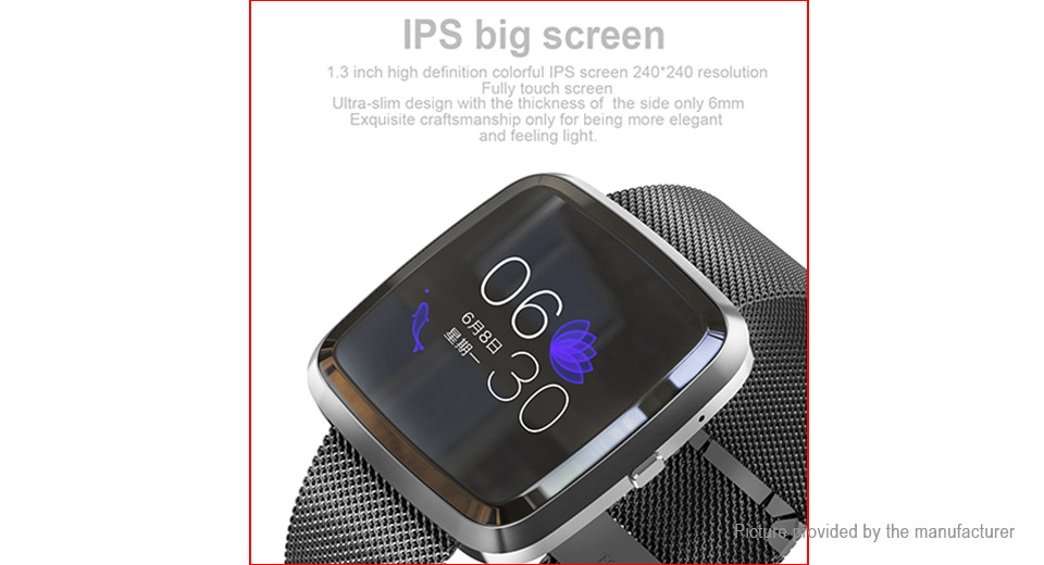 "T2 1.3"" IPS Touch Screen Smart Bracelet Wristband"