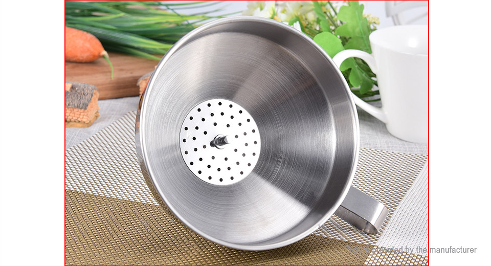 Stainless Steel Wide Mouth Wine Oil Funnel Kitchen Tool