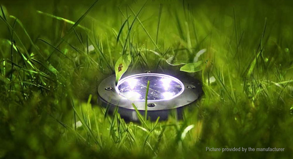 Solar Powered Light Sensor LED Garden Lawn Ground Light